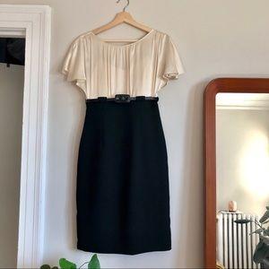 Calvin Klein Silk Flutter-Sleeve Dress